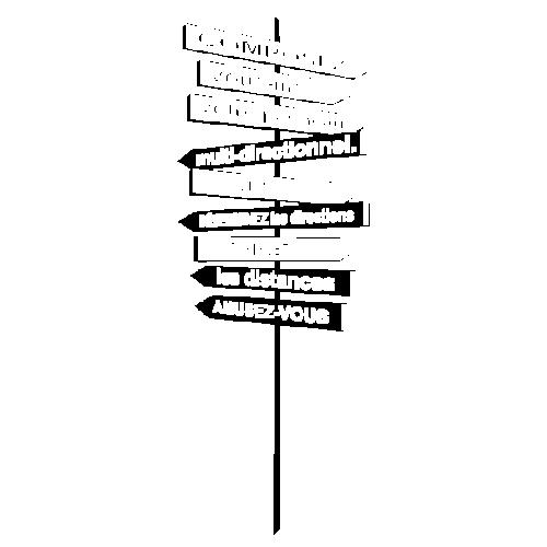 Sticker panneau flèches perspective avec vos textes
